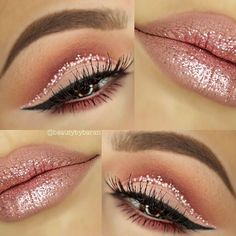 maquillaje-ojos-glitter-quinceaneras (11) | Ideas para Fiestas de quinceañera - Decórala tu misma #maquillajeojos