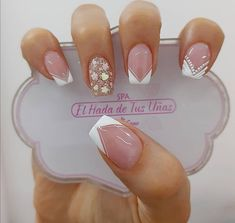 Visit the post for more. Lace Nails, Aycrlic Nails, Nail Manicure, Pink Nails, Cute Nail Designs, Acrylic Nail Designs, Gorgeous Nails, Pretty Nails, Luxury Nails