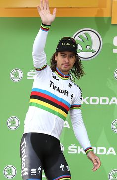 #TDF2016 Peter Sagan of Slovakia and Tinkoff retains the green jersey of best sprinter following stage 20 of the Tour de France 2016 a stage of 1465 km...