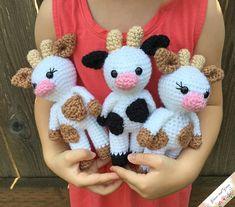 Mini Amigurumi Cow - A Free Crochet Pattern - Grace and Yarn