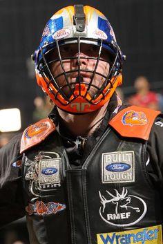 bull rider austin meier | Austin Meier has been wearing the new InVinciBull helmetsince the ...