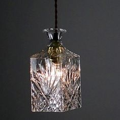 Crystal Glass Hanging Lamp Shade Restaurant  Kitchen Minimalist Personality Bottle Lights – USD $ 79.99