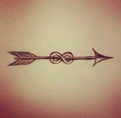 Infinity arrow tattoo idea