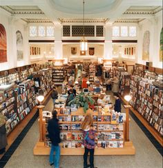 Munro's Books. Beautiful atmosphere, fabulous bargain tables in the centre of the store.