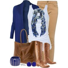 i like these colors together. I just don't know if I could wear the royal blue with the camel