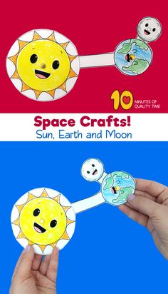 Sun Earth and Moon Craft Moon Activities, Space Activities, Science Activities, Earth Science Projects, Science Experiments Kids, Sun Crafts, Space Crafts, Sun Activity, Earth Sun And Moon