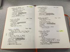 Very economical daily log! Like the way he uses indentions and mini-trackers.