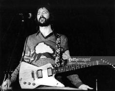 Eric Clapton performs live on stage at Ahoy in Rotterdam, Netherlands on November 30 1974