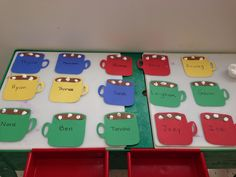 Hot chocolate cubby tags
