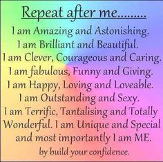 Positive affirmations help us accept our true value through the subconscious, without the negativity of the 'thinking mind'.