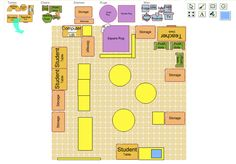 Student Storage, Square Rugs, Table Storage, Plans, Blog, Classroom Setup, Classroom, Billboard, Organization