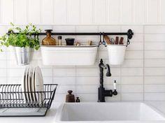 dicas para organizar a pia em cozinhas pequenas