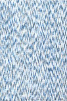 #DashAndAlbert Ikat Blue Chenille Woven Rug