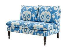 One Kings Lane - Accessible Styles - Bacall Armless Settee, Powder Blue Living Vintage, Beautiful Interior Design, Cool Chairs, Breakfast Nook, My Living Room, Home Furniture, Furniture Design, Country Furniture, Handmade Furniture