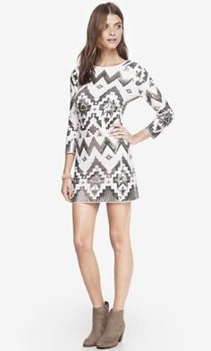 aztec sequin embellished mini dress from EXPRESS | New Years Eve Dress Idea