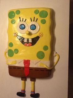 MY SPONGE BOB CAKE!!