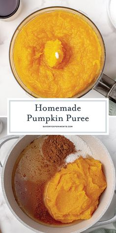 How to make homemade pumpkin puree from scratch to be used in your favorite pumpkin recipes or frozen for a later date. Homemade Pumpkin Puree, Pumpkin Recipes, How To Make Homemade, Easy Desserts, Food Videos, Frozen, Dinner Recipes, Appetizers, Fruit