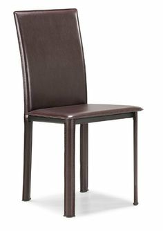 Zuo Arcane  Dining Chair, Espresso, set of 4 by zuo. $392.00. LEATHERETTE. Espresso. 4 per carton. This elegant chair combines class, style, and a touch of modern lines for a very clean look.  With three distinct colors and an easy to clean leatherette finish, the Arcane Chair is a perfectly balanced chair.