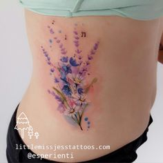 Painted Flower tattoo – Little Miss Jess Tattoos