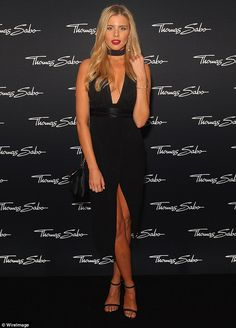 Making an entrance: Former Miss Universe Australia Tegan Martin was certainly dressed to i...