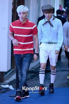 SHINee\s Jong Hyun, Taemin Attend TOMMY HILFIGER \