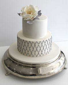 Faye Cahill Cake Design, beaded lattice cake