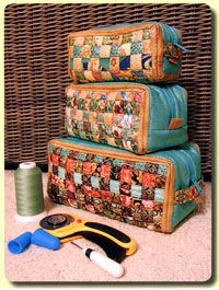 """Woven Ditty Bag Pattern by Aunties Two at KayeWood.com. Simply woven, practical bags for your tools or treasures! Size: Small 3"""" wide x 3"""" tall x 8"""" long; Medium 4"""" wide x 4"""" tall x 9 1/2"""" long; Large 6"""" wide x 5"""" tall x 11"""" long. http://www.kayewood.com/item/Woven_Ditty_Bag_Pattern/3169 $9.00"""