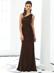 After Six Style 6643x #brown #bridesmaid #dress This would be AMAZING in turquoise purple r pink!!!