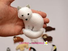 ARCTIC FOX. Polar Fox. White Fox. Snow Fox Cute miniature Arctic FOX magnet made from colorful felt fabric. This stuffed felt Arctic Fox is originally designed as a great home decor or adorable gift for your loved ones, educational for kids , fun for all ages. The Arctic Fox can