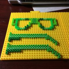 Glasses hama perler beads by hedgehogandrabbit