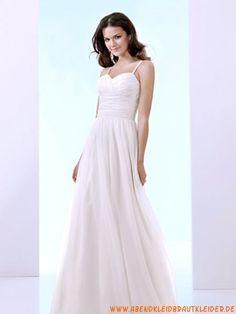 A-linie Glamouröse Dramatische Brautkleider aus Chiffon