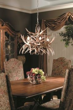 New Whitetail Deer Antler Chandelier Light 19 Antlers 8 Lights 24x30 Made Usa