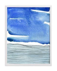 """Out To Sea I"" - Art Print by Chelsey Scott in beautiful frame options and a variety of sizes."