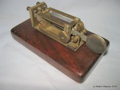 Unusual Homemade Sideswiper Telegraph Key, Cootie Key, Morse Code, Ham Radio by…