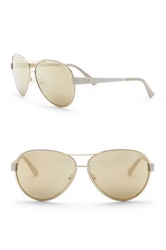 0d9b576b5a77f GUESS - 60mm Aviator Sunglasses is now 69% off. Free Shipping on orders over