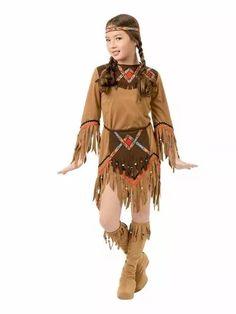 disfraz apache indigena nativa india pocahontas para niñas