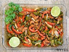 Using the oven to bake these oven fajitas makes them almost effortless, but still mouth-wateringly delicious. Step by step photos.