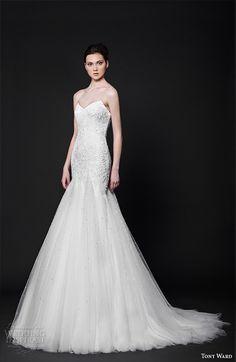 tony ward 2016 bridal sweetheart neckline strapless fit to flare mermaid wedding dress topaze