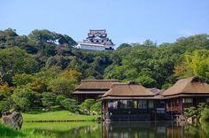 彦根藩 藩邸の玄宮園 解説 English: Genkyuen garden in Hikone, Shiga prefecture, Japan 日本語: 玄宮園, 滋賀県彦根市