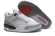 cheaper f9217 09b25 Authentic Nike Shoes For Sale Women Jordans 3 White Grey Red Cement  Women Air  Jordans -
