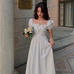 Classy Outfits, Pretty Outfits, Pretty Dresses, Cute Outfits, Simple Dresses, Elegant Dresses, Casual Dresses, Fashion Dresses, Kawaii Fashion