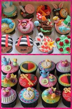 AMAZING!!! Alice in Wonderland Cupcakes!