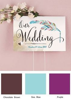 """""""Feather Whimsy"""" Design Personalized Directional Sign"""