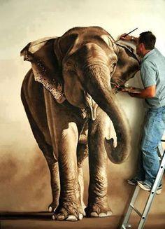 Stunning Wildlife Drawings by British Artist Richard Symonds Elephant Family, Elephant Love, Elephant Art, Elephant Paintings, Alabama Elephant, Mural Painting, Painting & Drawing, Photo Deco, Wildlife Art