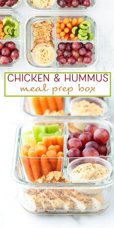 Chicken & Hummus Meal Prep Box