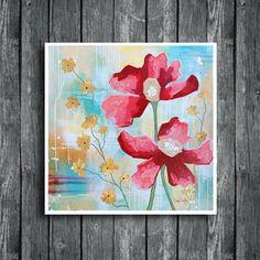 Serenity flowers, flower art, flower painting, floral art, www.dianadellos.com Flower Artwork, Painting Flowers, Acrylic Art, Acrylic Paintings, Expressive Art, Glass Wall Art, Unique Wall Art, Flower Aesthetic, Botanical Art