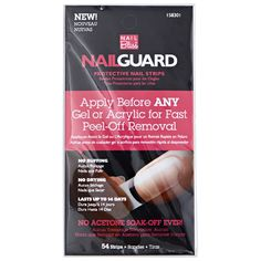 $4   #SallyBeauty Apply Nail Bliss Nail Guard before any gel or acrylic for fast peel-off removal.