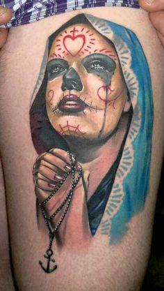 Matteo Pasqualin #sugar #skull #tattoo