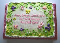 baby girl sheet cake