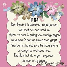 Mis jou so baie. Mothers Day Quotes, Dad Quotes, Qoutes, Birthday Greetings, Birthday Wishes, Happy Birthday, Beautiful Prayers, Beautiful Gifts, Afrikaanse Quotes